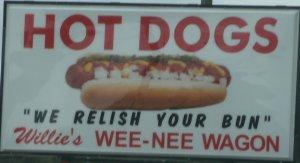 Funny Sign-Weenie Wagon 7-1